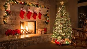 christmas tree house decorated christmas tree in house wallpaper 11604 baltana