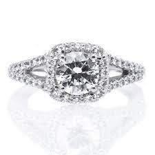 cushion halo engagement rings platinum cushion halo v band engagement ring s