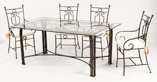 chaises en fer forgé table et chaises fer forgé vivaldi salle à manger en fer forgé
