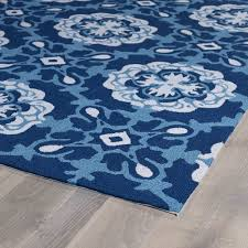 shop matira blue floral trellis 7ft 6ft x 9ft outdoor rug kaleen