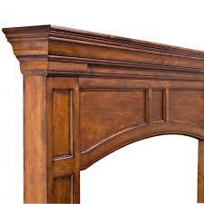 56 u0027 u0027 vance distressed medium oak finished fireplace surround by