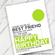 funny friend card best friends birthday card by studioinbudapest