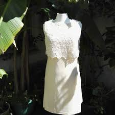 dress 1960 s vintage by peterson maid a simple embroidered