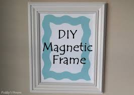 diy magnetic frame puddy s house