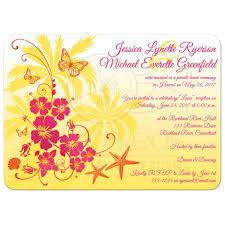 post wedding reception invitation yellow fuchsia orange white