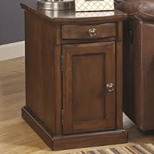 Chair Side End Table Laflorn Chairside End Table In Medium Brown Nebraska Furniture Mart