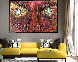 abstract handmade painting modern contemporary infinity abstract acrylic painting on canvas large