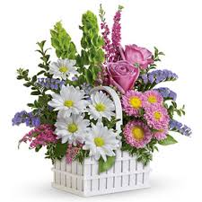 Flower Delivery Chicago Teleflora White Picket Fence Bouquet 5e200 Florist Delivery In