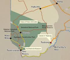 Kalahari Desert Map Stories Of The Kgalagadi Transfrontier Park Tracks4africa Blog