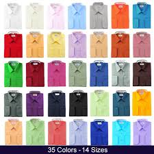 berlioni italy french convertible cuff solid mens dress shirt all