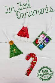 activity tin foil diy ornaments