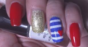 how to do easy nail art at home ars arts red white and blue