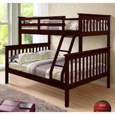 amazon com donco kids twin over full mission bunk bed kitchen