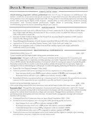 Sample Resume For Chef Position by Sample Resume For Chef Position Resume For Your Job Application