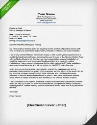 licensed electrician cover letter