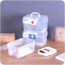 Portable Medicine Cabinet Aliexpress Com Buy Large Plastic Family Emergency Medical Kit
