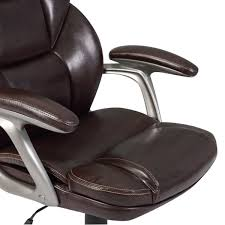 Recliner Computer Desk by Modern High Back Mocha Pu Leather Hydraulic Executive Comfortable