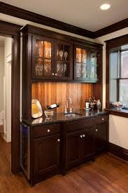 Building A Bar With Kitchen Cabinets Campbell Craftsman Bar Cabinet Traditional Kitchen Kansas