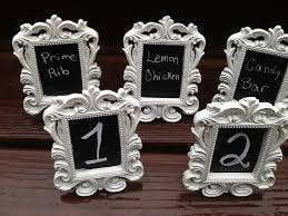 silver frames for wedding table numbers set of 5 white or black mini chalkboard table number frames
