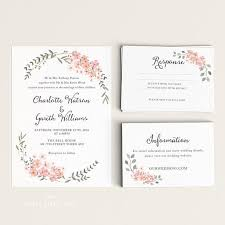 wedding invitations rsvp printable wedding invitation set watercolor floral garden rsvp
