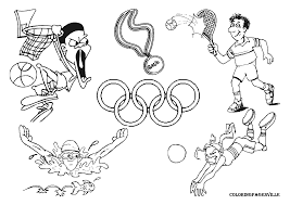 olympic games coloring pages featuring rings basketball gekimoe