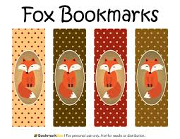 free printable fox bookmarks each bookmark features a red fox on