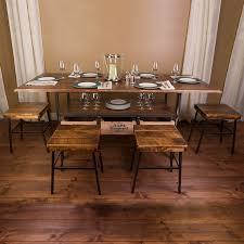 wine cellar table vino vintage farm style dining table with 4 cellar stools wine