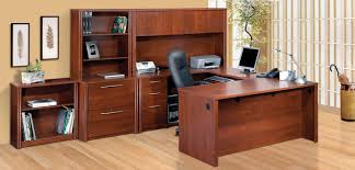 Computer Desk With File Cabinet Bestar Embassy Deluxe Tuscany Brown U Shaped Computer Desk Set