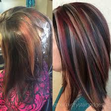 hair styles foil colours blonde red brown hair color chunky highlight hair by crystal