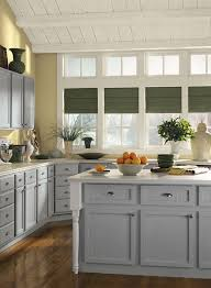 yellow and grey kitchen ideas gorgeous gray kitchen with a splash of yellow bm on cabinets