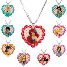 childrens necklaces new princess flatback resin pendant necklace for