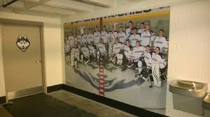 project highlight university of connecticut athletic signage uconn hockey wall mural