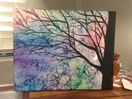 How To Remove Crayon From Wall by Melted Crayon Art With A Tree Silhouette Painted On Top I Can