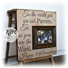 50th wedding anniversary gift ideas for parents best 25 50th anniversary gifts ideas on diy 40th