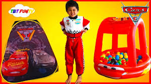 cars 3 toys lightning mcqueen surprise toys tent disney cars ball