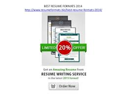 Best Resume Format 2014 by Resume Formats