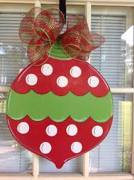 christmas ball door hanger personalized by samthecrafter on etsy