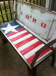Bench Made From Tailgate 23 Awesome Diys Made From Old Upcycled Car Parts Diy Joy