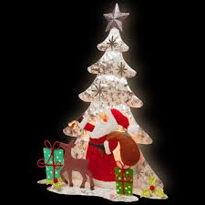 national tree company 16 in lighted tree santa scene mzc 879