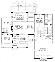 Donald A Gardner Floor Plans by Country Style House Plan 3 Beds 2 00 Baths 1905 Sq Ft Plan 929 8
