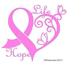 amazon com breast cancer ribbon car decal sticker automotive