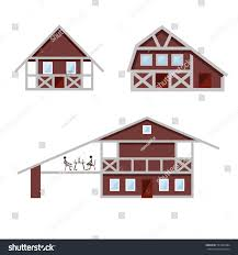 set country houses front view vector stock vector 537909484