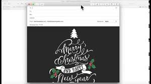 christmas card email template for apple mail stationary youtube