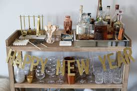 nye party bar cart styled by kasey