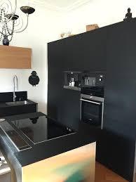 cuisine noir mat cuisine noir mat cuisine facas mat plan travail en cuisine noir mat