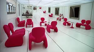 retro futuristic interiors modern designer furniture and sofas