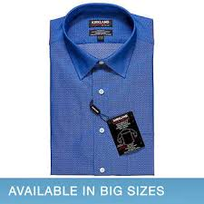 blue tailored dress shirts costco