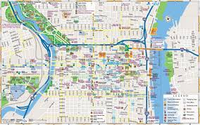 Ohio City Map Philadelphia Downtown Map