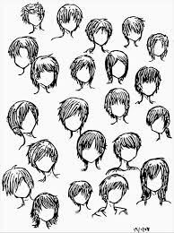 anime guy hairstyles drawing pencil drawing collection