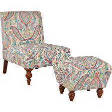 kinfine k6381 armless accent chair with ottoman homeclick com